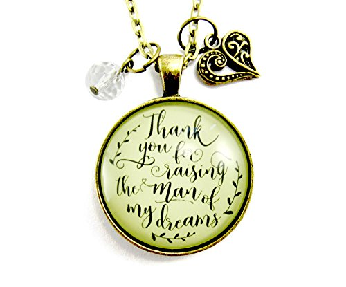 36 Thank You For Raising the Man Of My Dreams Mother Of The Groom Necklace Wedding Day Gift Vintage Style Jewelry