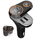 Bluetooth Car Adapter, FKANT Bluetooth FM Transmitter for car, Wireless In-Car Bluetooth Receiver for iPhone iPad Samsung, Hands-free Car Charger with 2.4A Dual USB Ports, TF Card Mp3 Player