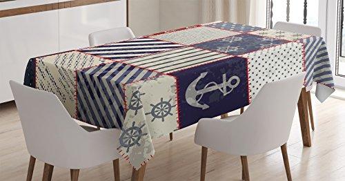 Farmhouse Tablecloth Ambesonne Nautical Rectangular