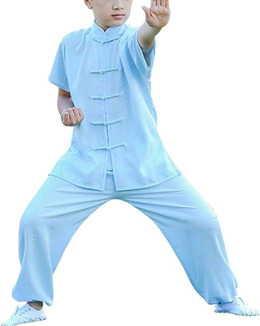 Unisex Niños Ropa de Artes Marciales Kung Fu Rendimiento ...