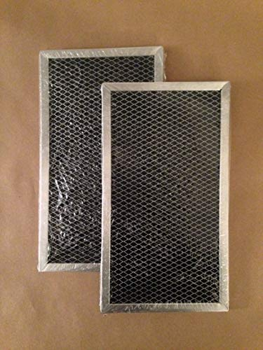 4393690 2-Pack Whirlpool Compatible Microwave Hood Charcoal Carbon Filter ()