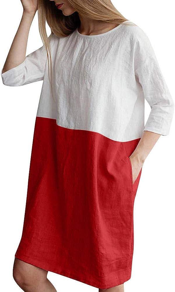 STRIR Vestidos De Fiesta para Bodas Talla Grandes t/única Vestidos Playa Mujer Vestidos Casuales Vestido Midi Vestido Verano Vestidos Mujer Vestido con Bolsillos