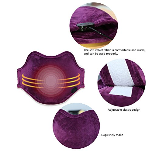 Electric Heating Pad Heated waist Belt for soulder Neck and Lower Back Hot Therapies pain Relief , Women Girls Tummy Belly Keep Warm,Moxibustion hot compress Muscle Relax by Heyeasy (Image #5)