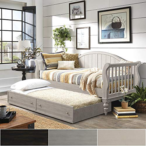 Wood Daybed Traditional (Inspire Q Wallace Traditional Wood Slat Daybed and Trundle by Classic Black)