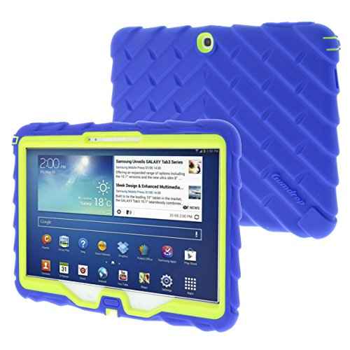 Samsung Tab 3 10 inch (2013) Drop Tech Blue Gumdrop Cases Rugged Shock Absorbing Protective Dual Layer Cover
