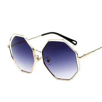 BiuTeFang Gafas de Sol Mujer Hombre Polarizadas Polígono Las ...
