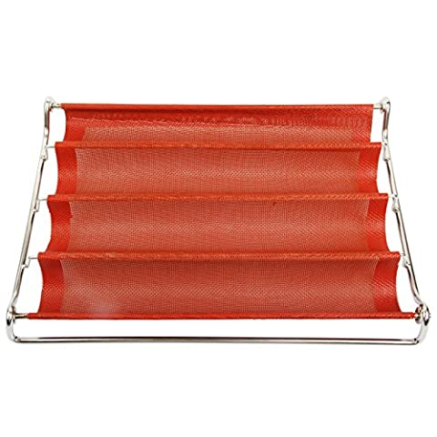Yilove Perforated Baguette Pan French Bread Baking Mold, 14.2
