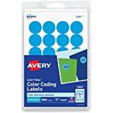 Avery Print/Write Self-Adhesive Removable Labels, 0.75 Inch Diameter, Light Blue, 1,008 per Pack (5461)