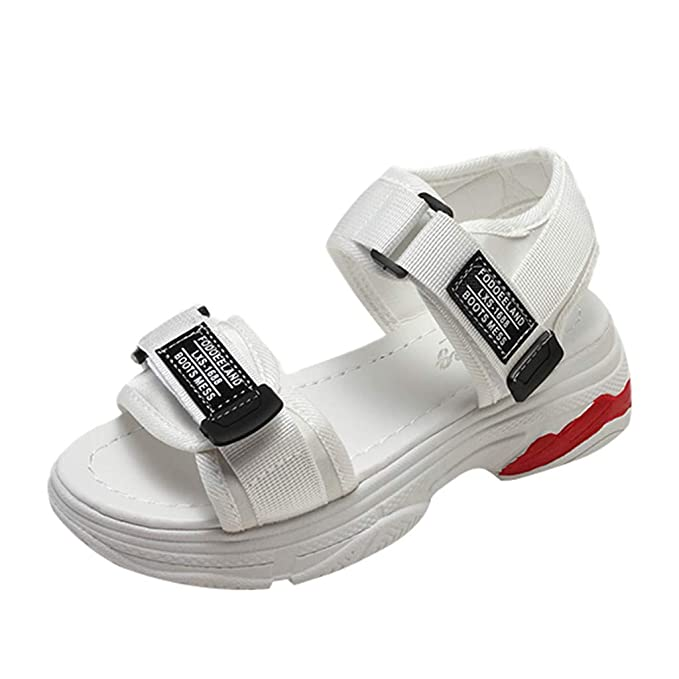 Darringls_Sandalias de Primavera Verano Mujer,Bohemia Mujer Gladiador Sandalias de Cuero Zapatos Bajos Sandalias Pom Sandalias Casuales Zapatos de Playa ...