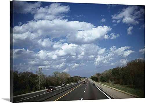 mium Thick-Wrap Canvas Wall Art Print entitled Traffic on a highway, Interstate 44, Creek County, Oklahoma 24