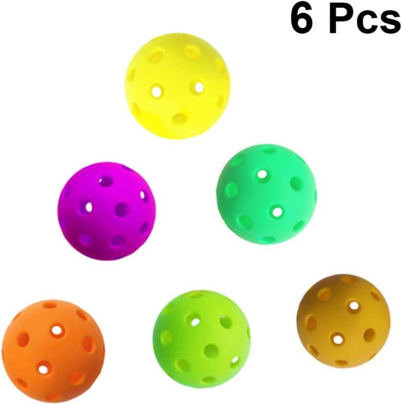 TOYANDONA 6 Piezas de Pelotas de Plástico, 2. 7 Pulgadas de Práctica Deportiva de Colores Pelotas de Plástico Huecas para Niños (Color Aleatorio)