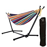 OnCloud Double Hammock with 9 FT Stand Space Saving Carrying Case  (Small Image)