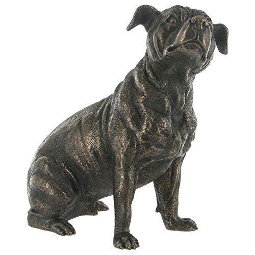 'Staffordshire Bull Terrier' Cold Cast Bronze Statue H17cm by Fiesta Studios - Bull Terrier Statues