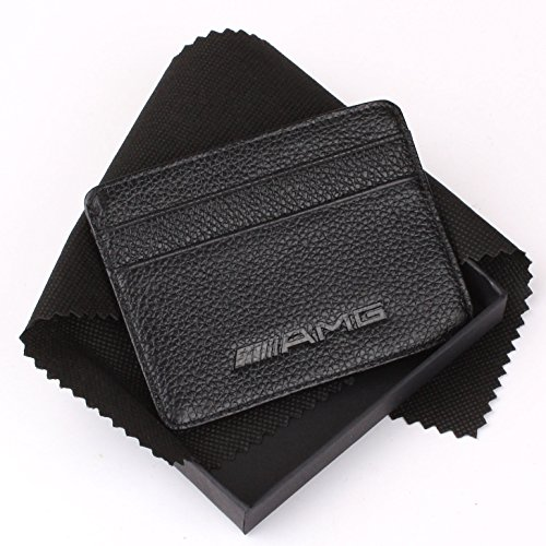 Lowest price amg mercedes benz slim wallet black with 4 for Mercedes benz wallet