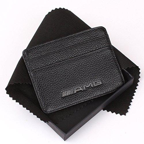 lowest price amg mercedes benz slim wallet black with 4. Black Bedroom Furniture Sets. Home Design Ideas