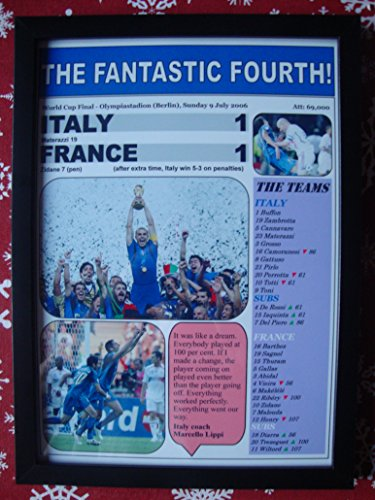 Sports Prints UK Italy 1 France 1-2006 World Cup Final - framed print 2006 Italy World Cup