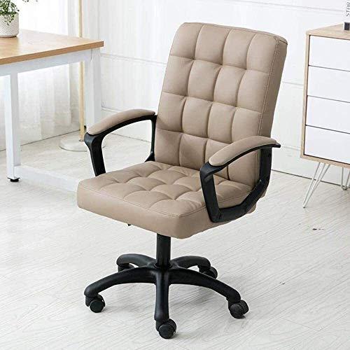 DBL Executive Recline Swivel armstol, vilstol studentstol personalstol sovsal stol hotellstol hem svängbar stol vadderad kontorsstol skrivbordsstolar (färg: Kaki)