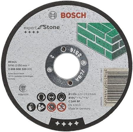 Blue Bosch C 24 R BF 2608600320 115mm Straight Stone Cutting Disc-115mmx22.23mm