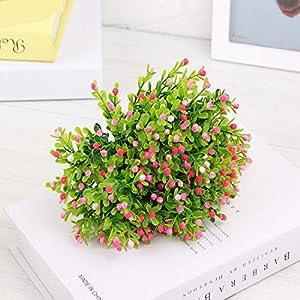 GSD2FF Artificial Flower Milan Grass Fake Green Plants Pot Room Home Decorations Wedding Bridal Bouquet 8