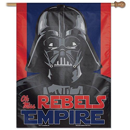 NCAA Mississippi Rebels Star Wars Darth Vader Vertical Bandera, 27x 37-inch