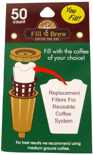 Economy Kitchen Accessory Fill N Brew K-Cup Filters 50 - Prices Shipping Economy