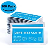 Pre-Moistened Electronic Cleaning Wipes - Lens Wipes for Eyeglasses, Camera, Phone, LCD Screen - Quick Drying, Streak-Free, Ammonia-Free ( 7'' x 5'', 100 Pack )