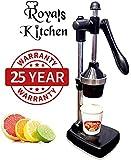 Royal World Freshforce Aluminium Hand Press Citrus Fruit Juicer (Black)