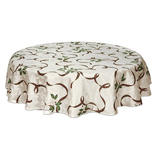 (Lenox Holiday Nouveau Ribbon Oval Tablecloth, 60