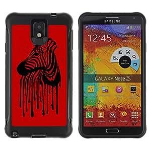 Hybrid Anti-Shock Defend Case for Samsung Galaxy Note 3 / Cool Zebra Stripes