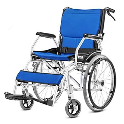 Silla de ruedas ligera que conduce suministros médicos para adultos, silla de ruedas plegable portátil
