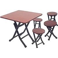 D DOLITY Conjunto De Muebles Mini Silla Y Mesa Plegable Decoración Para Casa De Muñecas 1/12