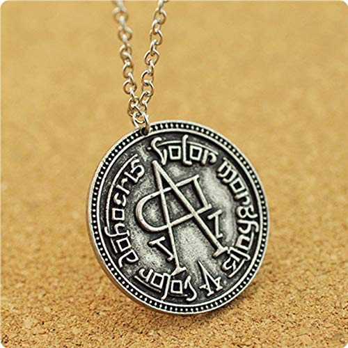 Game Of Thrones Stark Jaqen Hghar Valar Morghulis Faceless Man Coin Movie Pendant Necklace Jewelry Stainless Steel !