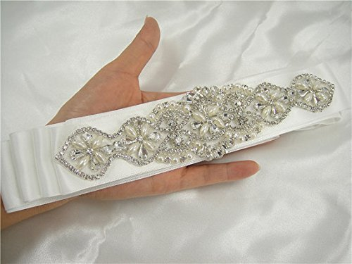 Rhinestone applique Diamante Applique Sash