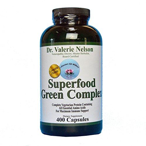 Superfood Green Capsules Spirulina Alfalfa product image