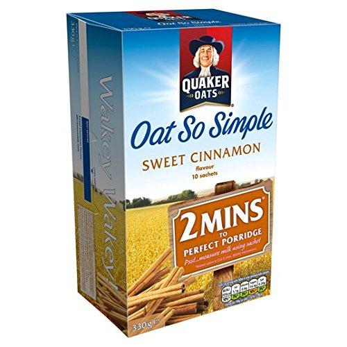 Avena Quaker tan simple dulce de canela Gachas 10 x 33g: Amazon.es: Alimentación y bebidas