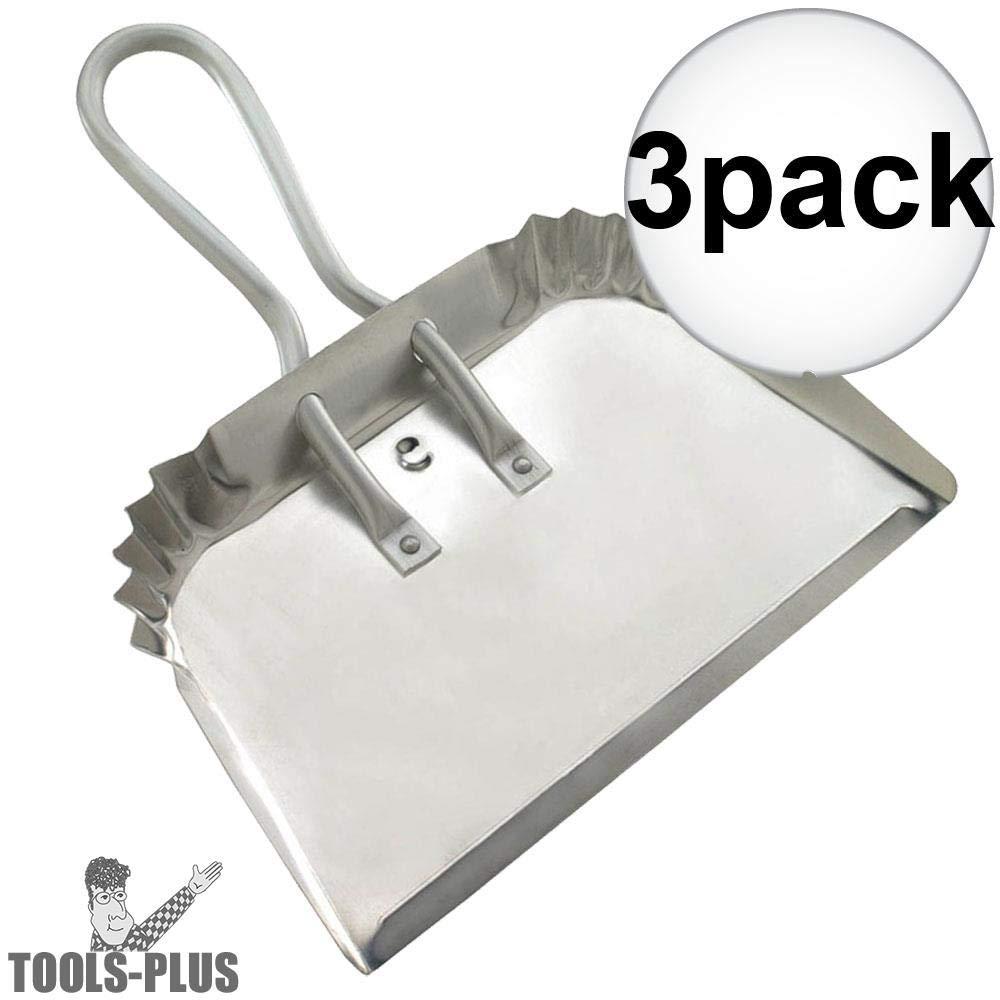 Guetle DP 17'' Extra Heavy Aluminum Duty Dust Pan 3-Pack