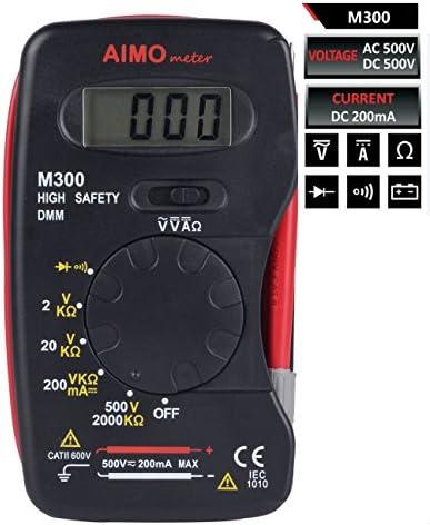 AIMO M300  デジタル液晶マルチメータ ミニハンドヘルド式 ハイセイフティDMMメーター電流計電圧計抵抗計【並行輸入品】