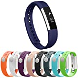 Vancle Fitbit Alta Bands, Newest Adjustable Replacement Bands for Fitbit Alta/ Fitbit Alta band/ Fitbit Alta Bands (with Metal Clasp,No Tracker) (blue, large)