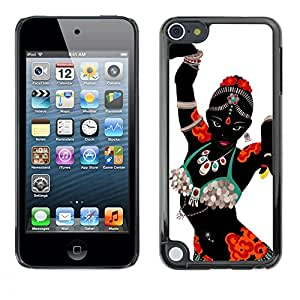 A-type Colorful Printed Hard Protective Back Case Cover Shell Skin for Apple iPod Touch 5 ( Indian Dance Woman Costume Attire Art )