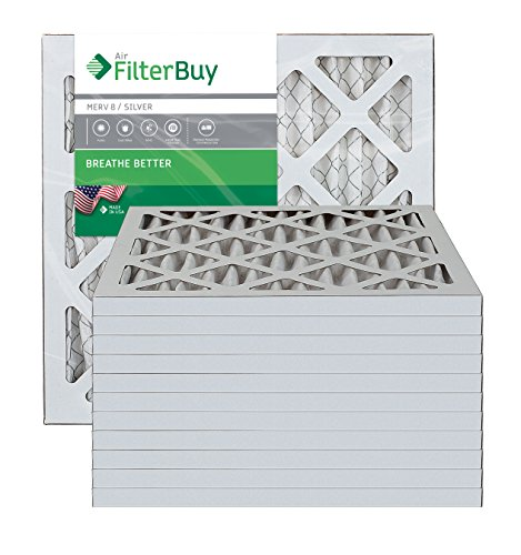 10x10x1 AFB Silver MERV 8 Pleated AC Furnace Air Filter. ...