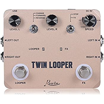 rowin twin looper station electric guitar effect pedal loop station for guitarists. Black Bedroom Furniture Sets. Home Design Ideas