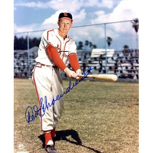 Red Schoendienst Autographed/ Original Signed Color 8x10 Photo with the St. Louis Cardinals