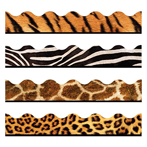 TREND enterprises, Inc. T-92917 Animal Prints Terrific Trimmers, Variety Pack, 156'