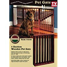 Folding Wood Pet Gate- 3 Sections