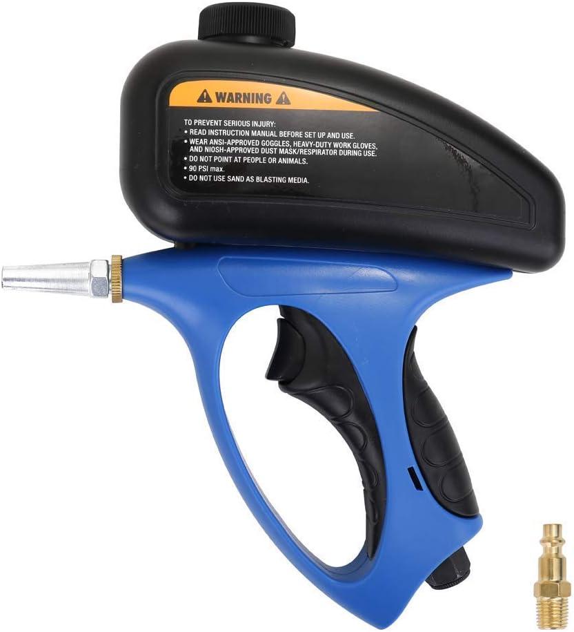 NBVCX Home Utensils Sand Blaster Pequeña Boca Neumática Sandblaster Sandblaster Manual Abrasivo Spot Blaster Máquinas