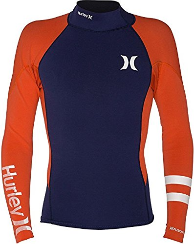 Hurley Men's Fusion 101 Jacket Surf Wetsuit Top MJW0000060 (Midnight Navy, X-Large) (Wetsuit Top Hurley)