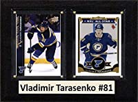 "NHL St. Louis Blues Vladimir Tarasenko Two Card Plaque, Brown, 6"" x 8"""