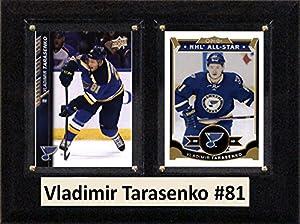 "NHL St. Louis Blues Vladimir Tarasenko Two Card Plaque, Brown, 6"" x 8"""