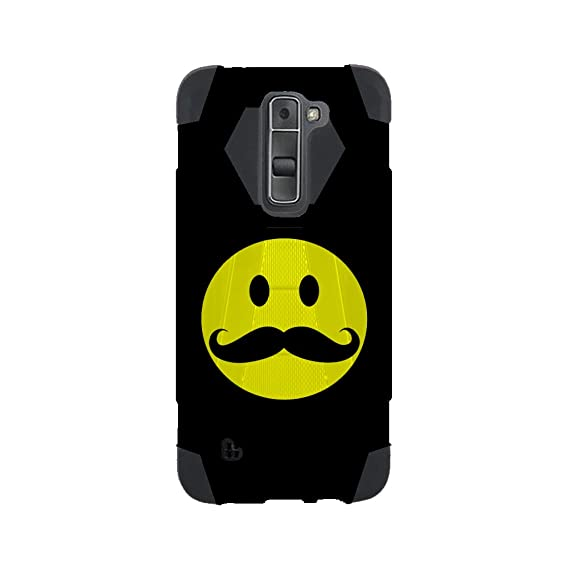 lg k10 hybrid case by infoposusa smiley face mustache