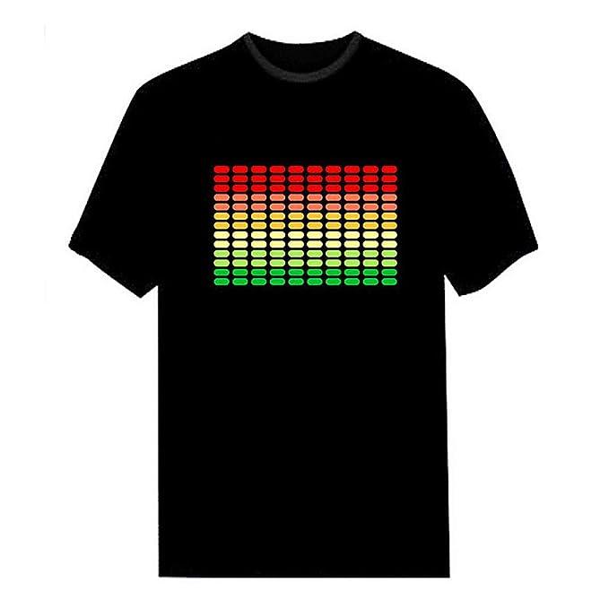 camisetas sonido activado ecualizador
